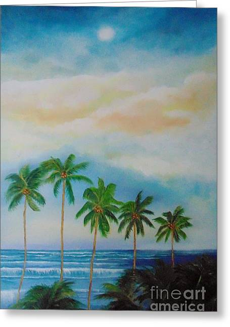 Greeting Card featuring the painting Caribbean Dream by Nereida Rodriguez