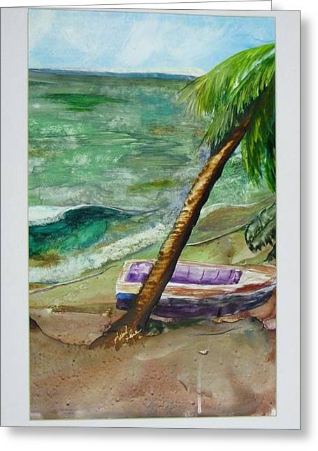 Caribbean Morning II Greeting Card