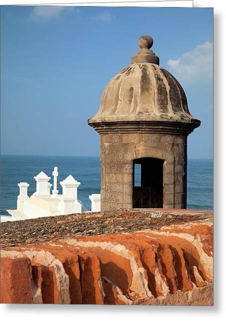 Caribbean, Puerto Rico, Old San Juan Greeting Card by Jaynes Gallery