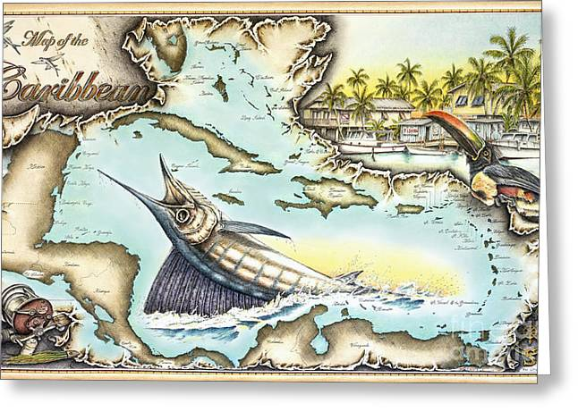 Caribbean Sails Greeting Card