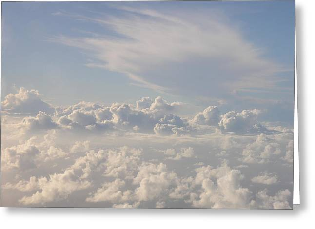 Caribbean Sky Greeting Card by Christian Zesewitz