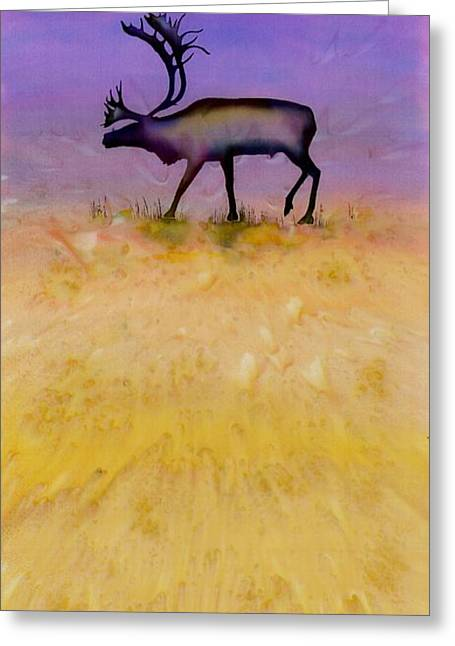 Caribou On The Tundra 2 Greeting Card by Carolyn Doe
