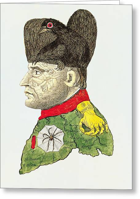 Caricature Of Napoleon Bonaparte Greeting Card by English School