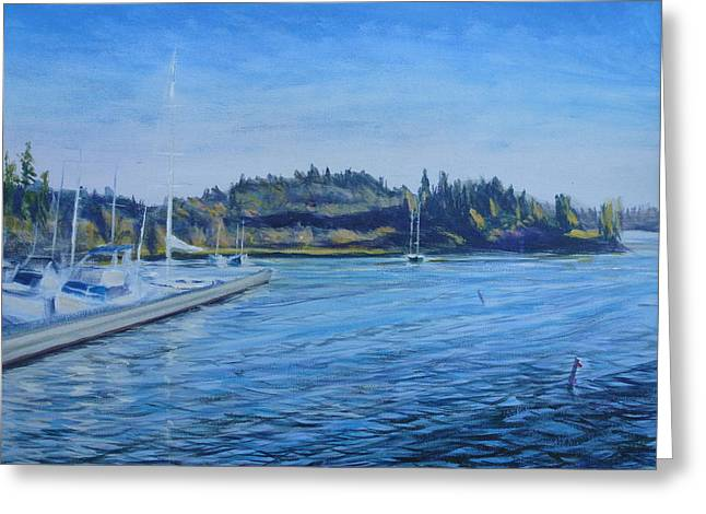 Carilllon Point Marina Greeting Card by Charles Smith