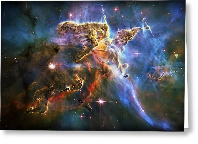 Carina Nebula 6 Greeting Card by Jennifer Rondinelli Reilly - Fine Art Photography