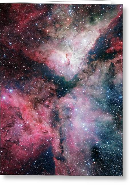 Carina Nebula Greeting Card by European Southern Observatory