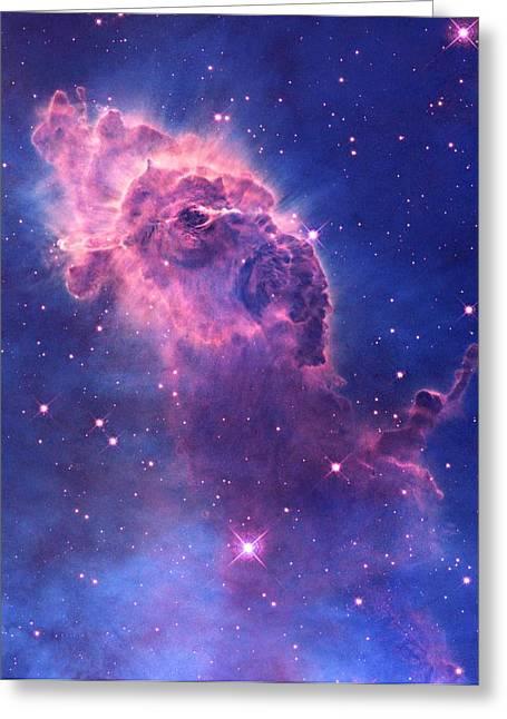 Carina Nebula Greeting Card by L Brown