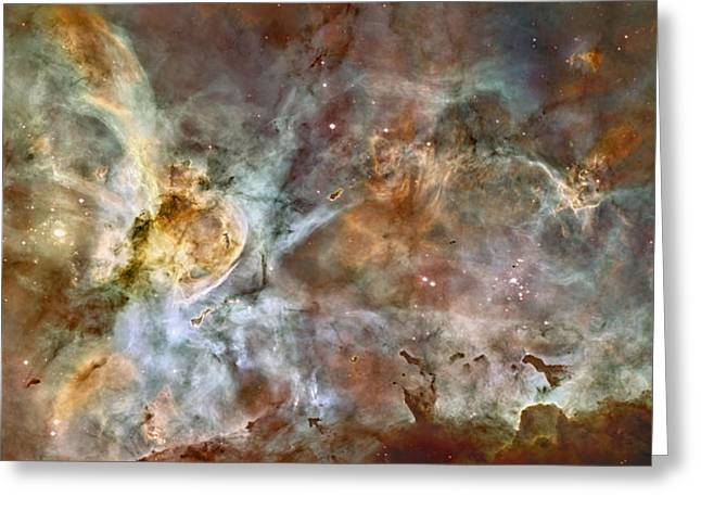 Carinae Nebula Greeting Card by Sebastian Musial