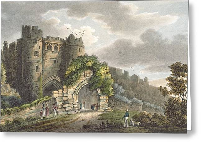 Carisbrook Castle, From The Isle Greeting Card