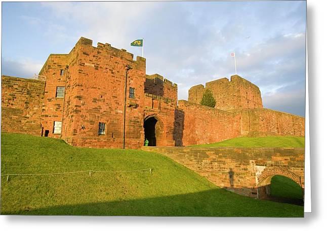 Carlisle Castle In Cumbria Greeting Card
