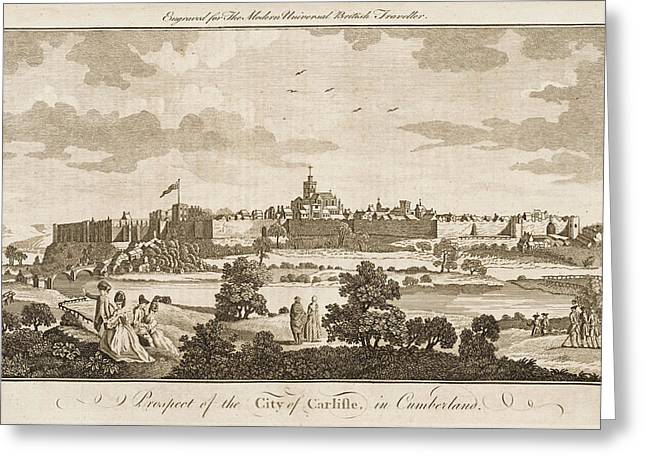 Carlisle, Cumbria, England     Date 1779 Greeting Card by Mary Evans Picture Library