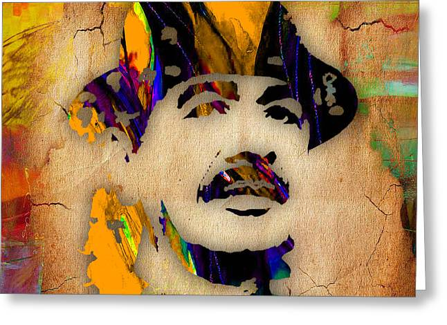Carlos Santana Greeting Card