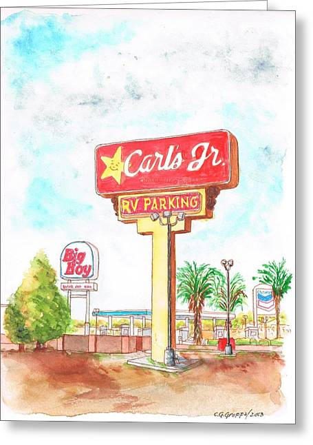 Carl's Jr. In Barstow, California Greeting Card