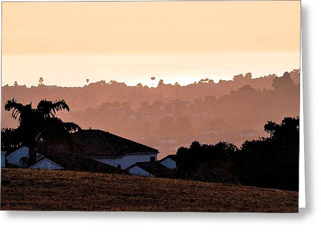 Greeting Card featuring the digital art Carlsbad Sunset by Kirt Tisdale