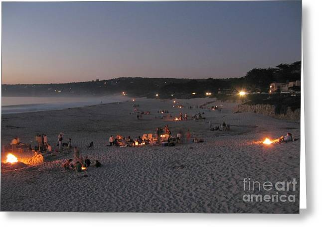 Carmel Beach Bonfires Greeting Card