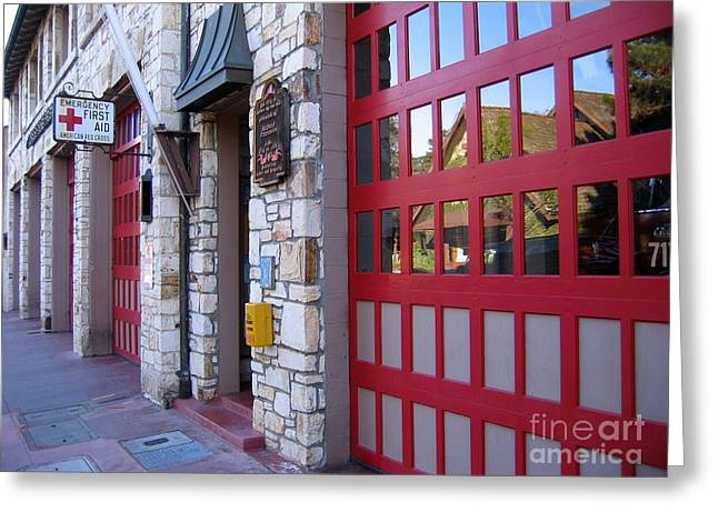 Carmel By The Sea Fire Station Greeting Card