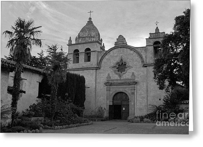 Carmel Mission Greeting Card by James B Toy