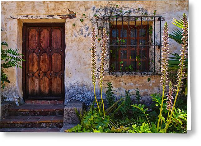 Carmel Mission Living Quarters Greeting Card