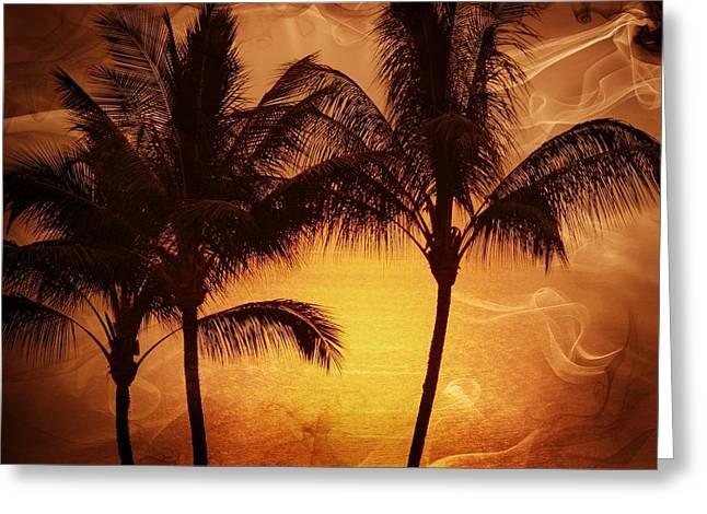 Carmel Sunset Greeting Card by Athala Carole Bruckner