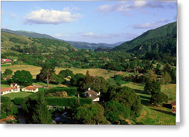 Carmel Valley Overlook In Panoramic Greeting Card by Panoramic Images
