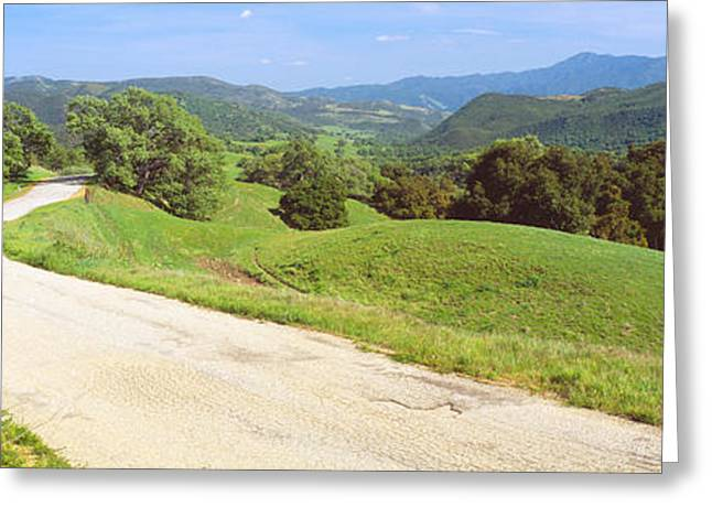 Carmel Valley Road, Route G20 Greeting Card by Panoramic Images