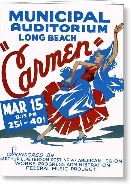 Carmen Greeting Card by American Classic Art