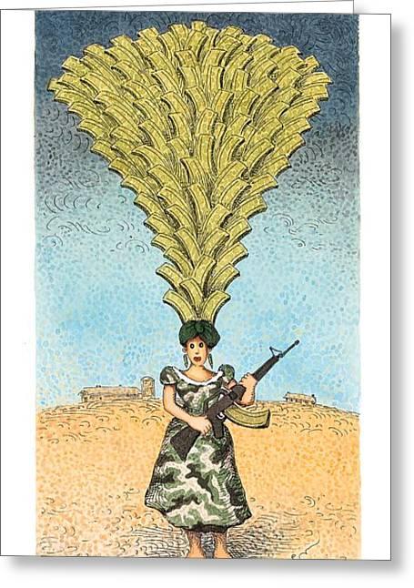Carmen Militia Greeting Card by John O'Brien