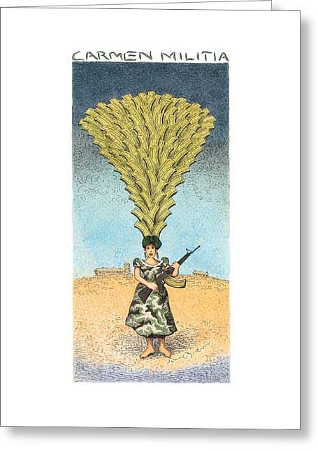 Carmen Militia Greeting Card