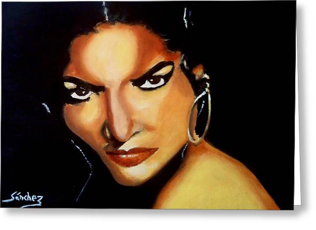 Carmen - Original Painting  Greeting Card