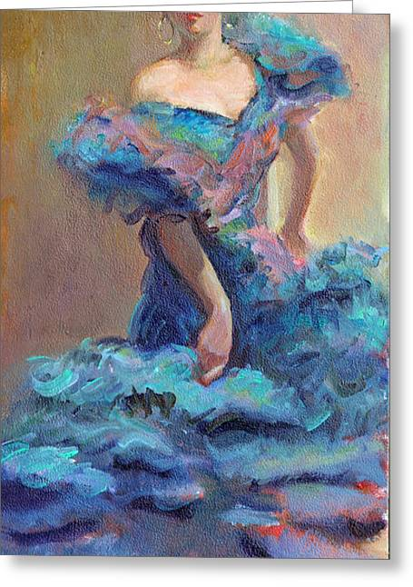 Carmencita Dances Greeting Card by Gwen Carroll