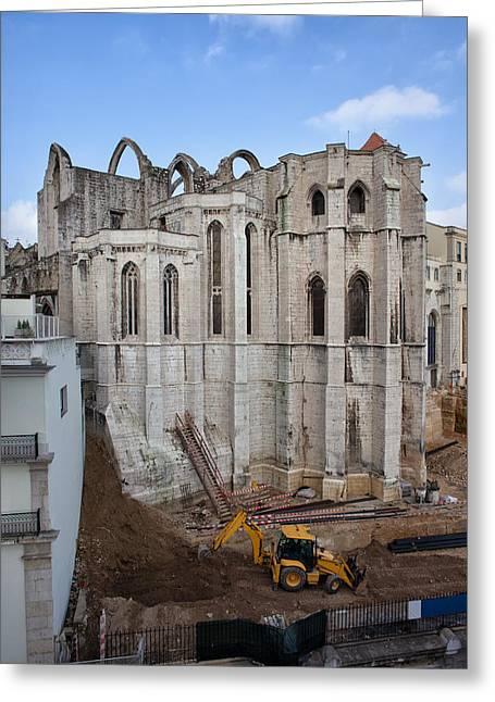 Carmo Convent In Lisbon Greeting Card by Artur Bogacki