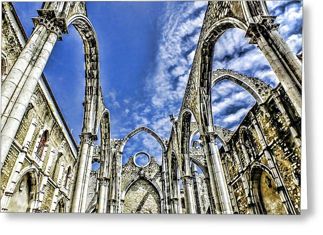 Carmo Convent Lisbon Greeting Card