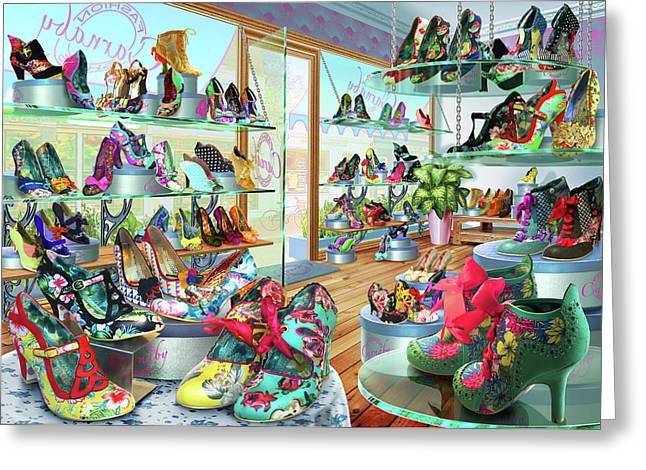 Carnaby Shoe Shop Greeting Card