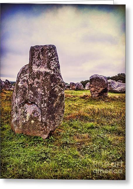 Carnac Greeting Card by Colin and Linda McKie