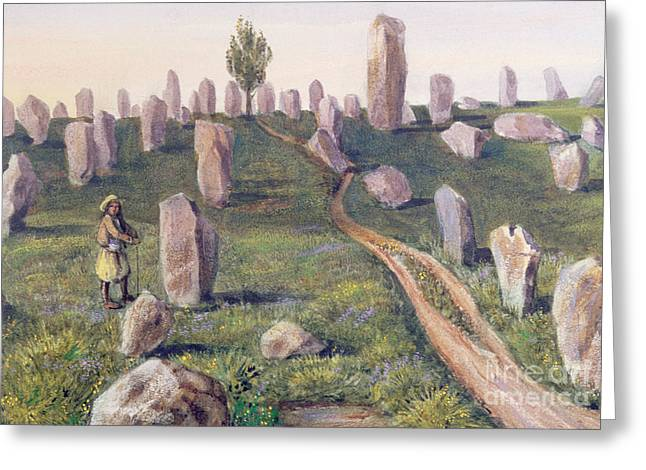 Carnac Greeting Card by Prosper Merimee
