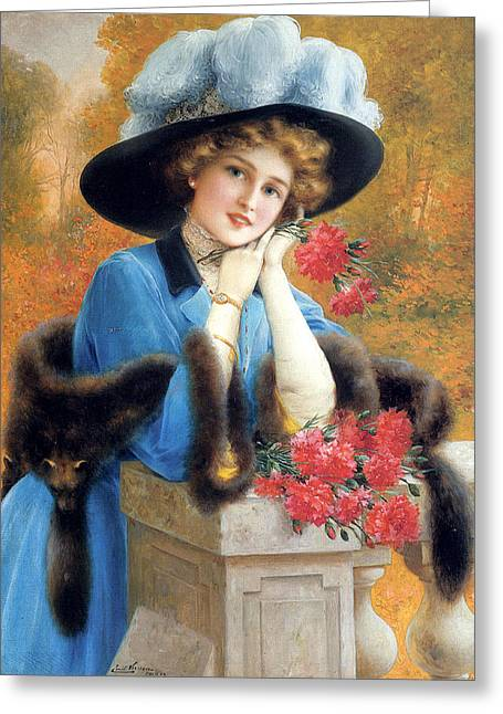 Carnations Are For Love Greeting Card