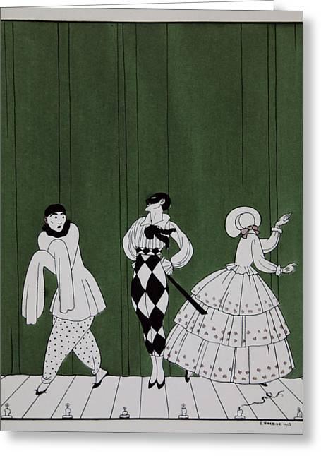 Carnaval Greeting Card by Georges Barbier