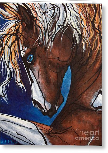 Carnaval Ride Greeting Card by Jonelle T McCoy