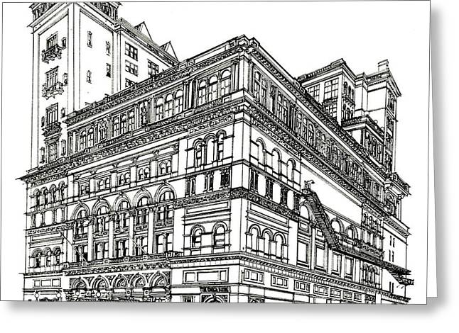 Carnegie Hall Back In Time Greeting Card by Ira Shander