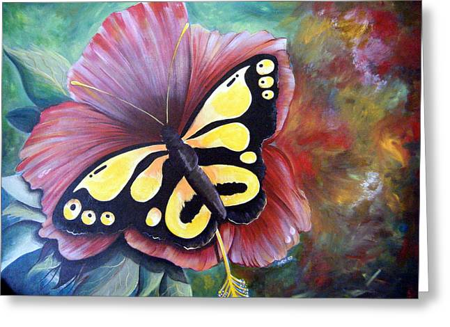 Carnival Butterfly Greeting Card