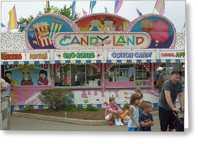 Carnival Candy Land Greeting Card by Ann Willmore