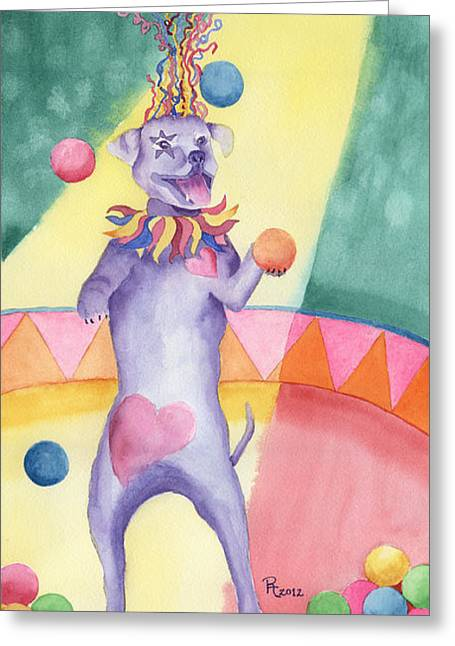 Carnival Canine Greeting Card