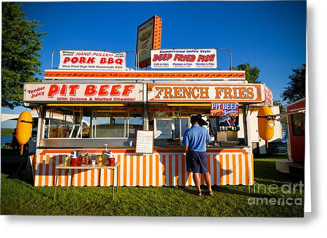 Carnival Concession Stand Greeting Card by Amy Cicconi