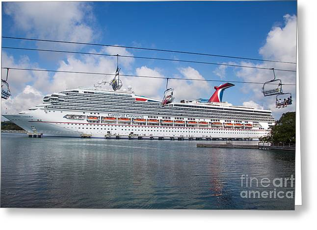 Carnival Conquest Greeting Card by Rene Triay Photography