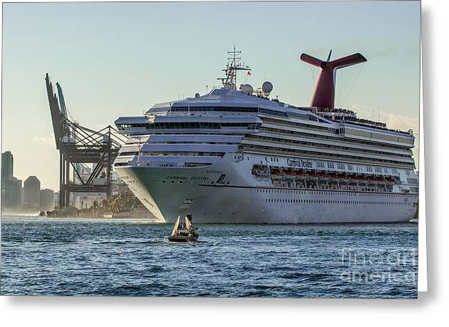 Carnival Cruise Line Destiny Greeting Card by Rene Triay Photography