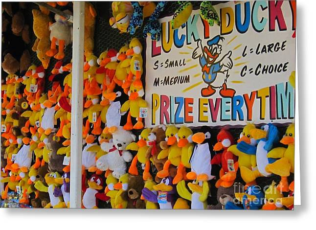 Carnival Days Lucky Ducky Greeting Card