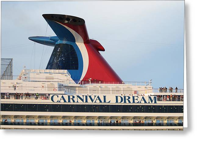 Carnival Dream Smokestack Greeting Card