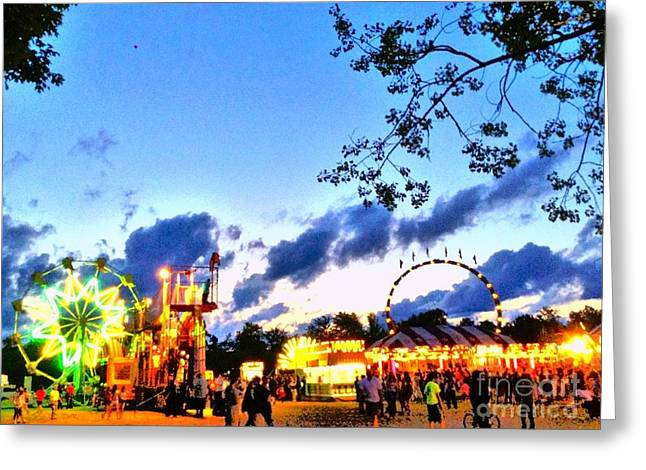 Carnival Fun At Horse Shoe Lake Greeting Card by Becky Lupe