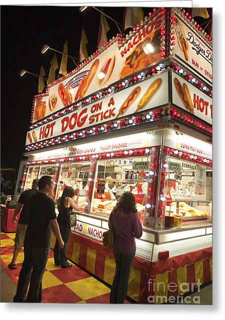 Carnival Hot Dog On A Stick Greeting Card by Jason O Watson