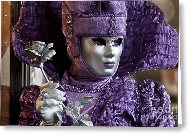 Carnival In Venice 1 Greeting Card by Design Remix